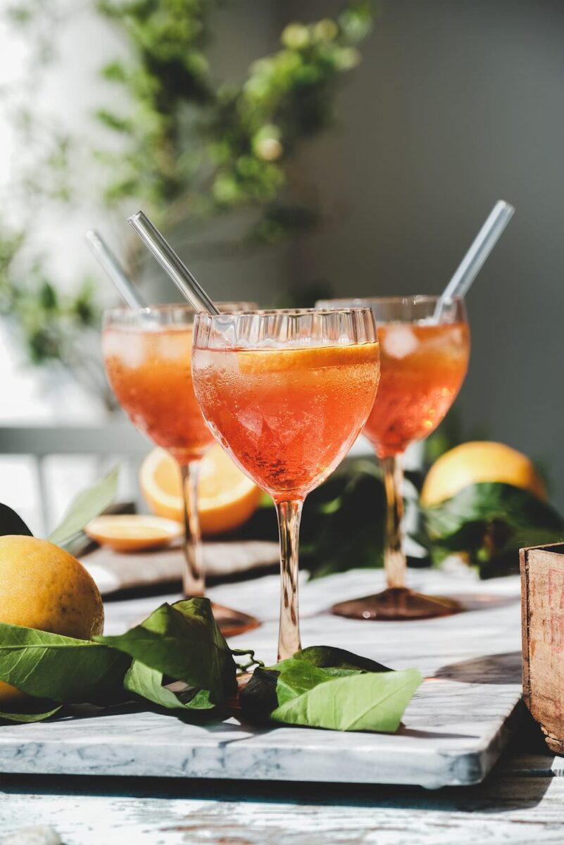 Aperol sour cocktail
