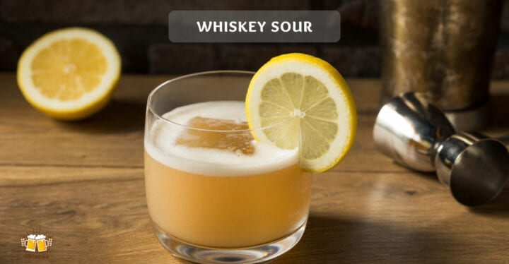 Whiskey sour cocktail rezept